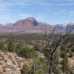 View towards mountains west of Zion