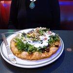 Wow! An Indian Taco.... vegetarian too!