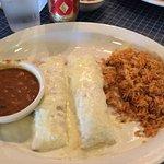 2 chicken enchiladas