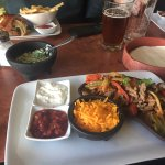 Great fajitas, good to see local beers being served
