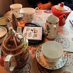pot of 'normal' tea and pot of apple and cinnamon tea
