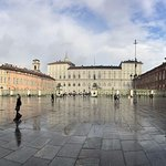Beautiful, rainy day in Piazza with River Flows in you playing in the background