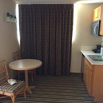 Junior suites have kitchenette and dining table.