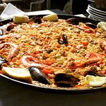 The seafood paella