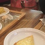 The grilled cheese sandwich and coconut macaroon dessert