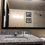 Restroom sink vanity area