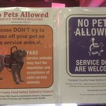We are pet lovers...interesting sign on front windoe