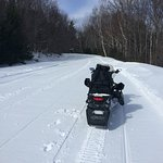 Double Sled on trail!