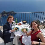 The great photo our waiter took of us and the view!