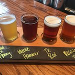 Local craft beer flight