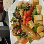 #Lan's Asian Grill #eggplant stir-fry with tofu