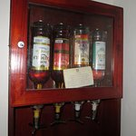 liquor dispensers in room