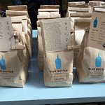 Blue bottle coffee for home brewing.