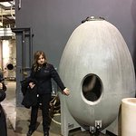 Christine (tour guide) showing us different ways they make wine.
