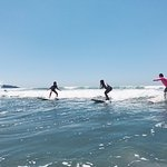 yogis surfing at playa guiones