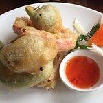 Vegetable Tempura as a starter on lunch menu