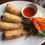 Vegetarian Spring Rolls as a starter on the lunch menu
