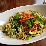 Vegetarian Singapore Noodles on lunch menu