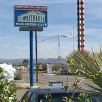 World'ds tallest thermometer right down the street form the Mad Greek in Baker , CA