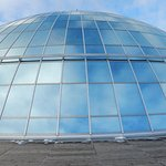 THe dome from the surrounding walkway