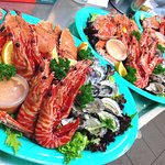 Seafood trays - delicious and fresh