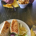 Lunch: chips and a tuna melt