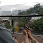 Enjoying our morning coffee on the balcony