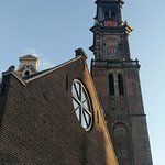 This church is is just outside (Westerkerk) and It's also a pretty sight to have while you wait