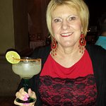 Pam at Frida with Sweet Lime Margarita
