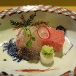 Amadai and Toro sashimi. Pristine frsh!