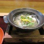 Expensive, exotic and rare - Shirako ( cod fish sperm sac ) in fish soup.