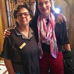 With Zorka, the amazing housekeeper who asked about my son by name!