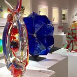 Some of the incredible glass pieces in the Duncan McClellan Gallery.