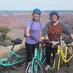 We rented bikes at the Visitor Center for a half day. Lots of fun going down the hills. Nice pat