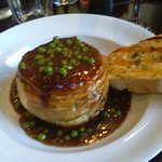 Beef Peas and gravy Pie