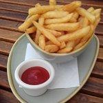 Bowl of crisp hot chips
