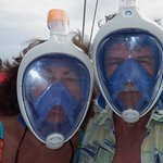 We tried out the full face snorkels--loved them!