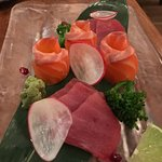 Tuna and Salmon Sashimi: 12 pieces