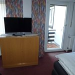 Flat screen TV, balcony