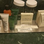Selection of toiletries
