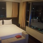 bed room with nice panaromic view of the city