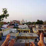 view from the roof terrace onto the Taj Mahal