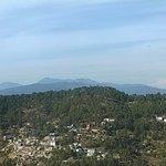 trishul peak as seen from the restaurant window