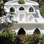 It has its own open air church