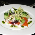 Smoked trout, salad