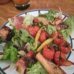 salade de brochette jambon et fromage de brebis