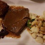 Meat with Njoki