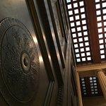 The huge bronze door