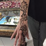 Henna tattoo was a top priority.