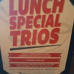Pick 3 for the Lunch Trio Special